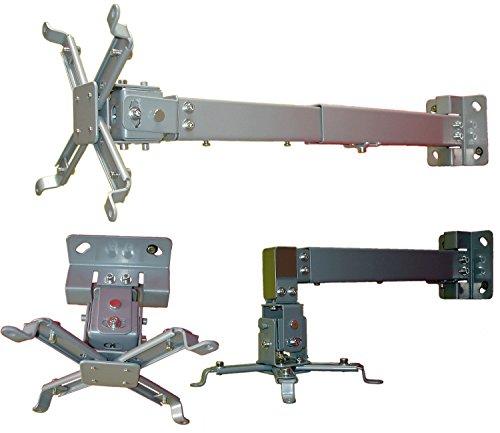 Beamer Deckenhalterung / Wandhalterung, 20 kg Tragkraft, neigbar, schwenkbar, silber
