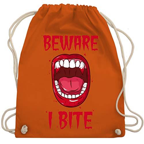 Halloween - Beware - i bite - Unisize - Orange - WM110 - Turnbeutel & Gym Bag