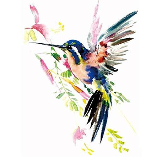 lecoolz Temporäres Tattoo Kolibri Vogel Design Temporary Klebetattoo Körperkunst