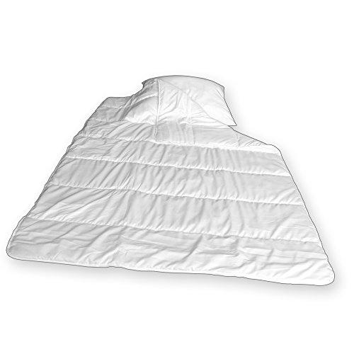 Bettdecken - Oberbetten Set mit Kopfkissen bestehend aus Bettdecke 135x200cm und Kissen 80x80cm waschbar bis 40 Grad - 2-teiliges Set