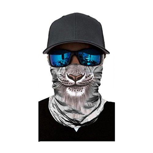 Kxnet Nahtlos Tiergesicht Radfahren Gesichtsmaske,Motorrad Biker Snowboards Halb Gesichtsaske, Staubschutz für Outdoor Trekking Skateboarden (A)