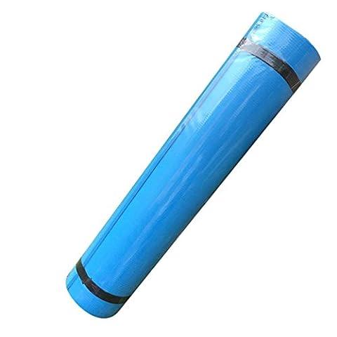Coolster 6MM Dicke Yoga Matte EVA Durable Matten rutschfeste Übung Fitness Pad Ausrüstung (5MM dick) (blau)