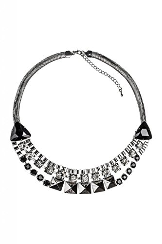 Lux accessori Fringe-Collana con ciondolo, fiore, con zircone