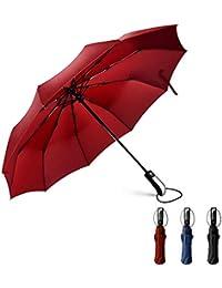Nasharia Parapluie Automatique pour Hommes et Femmes,en Tissu 210T Nano Hydrofuge et 10 Baleines,Très Approprié pour Les Voyages d'affaires, Voyage, Randonnée, Camping et Ainsi de Suite