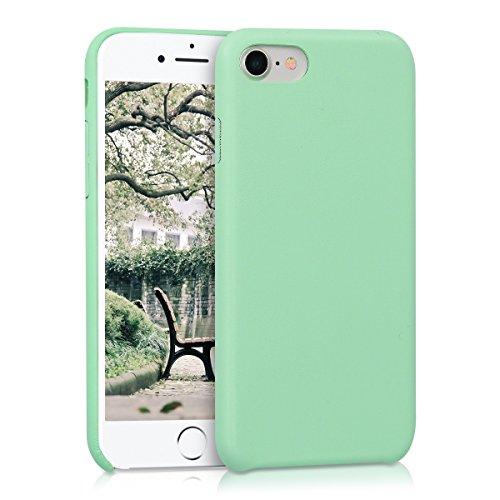 kwmobile Hülle für Apple iPhone 7 / 8 - Kunstleder Case Handy Schutzhülle - Backcover Cover Beige .Mintgrün