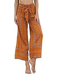 Verano Mujer Pantalones Anchos Elegante Casual Anchas Pantalones Rectos  Fiesta Estilo Pants Largos Diamante Perspectiva Pantalones 3c36fcdad68d