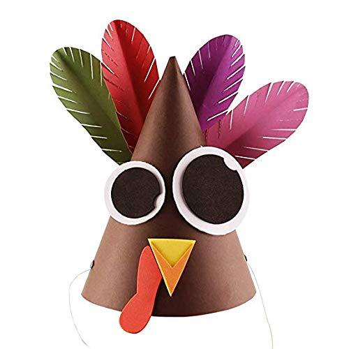 BRZM Das ideale Geschenk Verrückte Türkei Hut Unisex Neuheit Thanksgiving Festliche Weihnachten Kostüm handgefertigte Lernspielzeug Süßer Hut