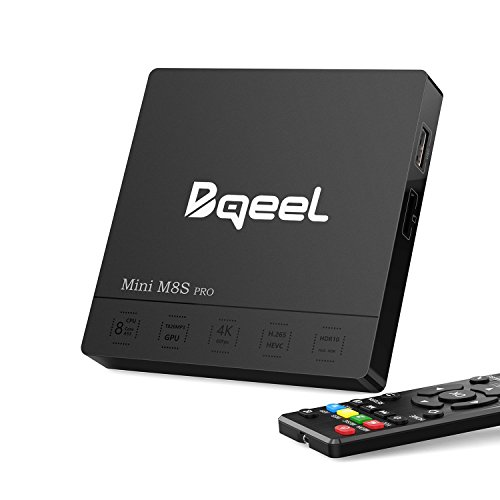 Android TV Box Android Box Bqeel TV Box【3G+32G】 Smart TV Box Mini M8S Pro mit Bluetooth 4.0 / Amlogic S912 Octa Core Arm Cortex-A5 unterstützt 4K/ WiFi /H.265 /10 M / 100 M / 1000 Mbps LAN