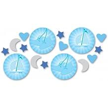 Amscan accesorios de decoración para mesa de bautizo, color azul