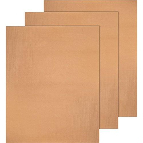 Copper Grill Backmatte Nonstick Bbq Grill Backmatten Und Leicht Zu Reinigen 40 X 33 Cm 3 Packung