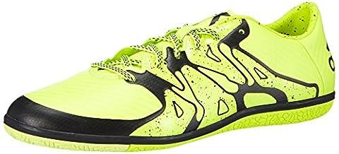 Adidas Chaos Low Indoor, Chaussures de Football Homme - Jaune (solar Yellow/solar Yellow/core Black), 42 2/3 EU