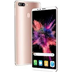 4G Telephone Portable debloqué, 6.0 Pouces 4Go + 64Go Android 8.3 Smartphone Pas Cher Dual 13MP + 5MP Caméras,4000mAh Double SIM Face ID Téléphone Portable Pas Cher sans Forfait (Rose)