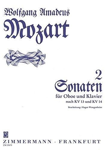 Sonate C-Dur und F-Dur: KV 14+13. Oboe und Klavier.