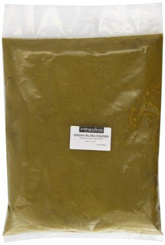 JustIngredients Ginkgo Biloba-Pulver, Ginkgo Biloba Powder (Maidenhair), 1er Pack (1 x 500 g)