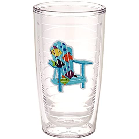 TERVIS Tumbler, 16-Ounce, Tropical Fish Adirondack Chairs by Tervis