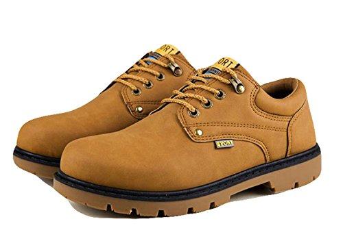 Ein Bißchen Herren Rutschfeste Fashion Mode warm britische Stil Chukka  Boots Stiefel braun-B ...