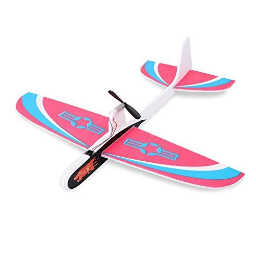 Dilwe Elektrische Hand Werfen Flugzeug, Kinder DIY Hand Werfen Spielzeug Segelflugzeug Flugzeuge Fliegen Modell Flugzeug Spielzeug Starten für Kinder Spielzeug Geschenk(Rot)