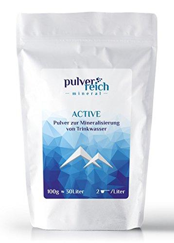 Pulverreich Active - Elektrolyte pur für Trinkflaschen und Trinksysteme - Sportgetränk ohne Kohlenhydrate, Ohne Aroma, Mit Magnesiumcitrat, Sport Mineralien, Pulver, 100 g (ca. 30 Liter)
