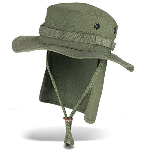 Black Snake Outdoor Safarihut Sonnenhut mit Nackenschutz für Damen und Herren - Oliv - XL