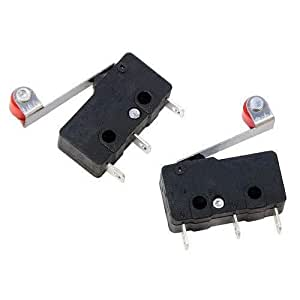 2 Pcs Micro Limit Switch with Roller for DIY Projects and 3D Printer
