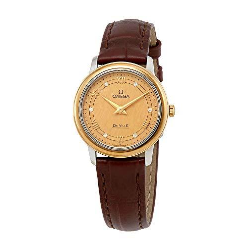 Omega De Ville Diamond Champagne Dial Ladies Watch 424.23.27.60.58.001
