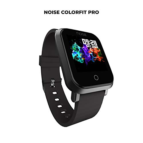 Noise ColorFit Pro Fitness Watch/Smart Watch/Activity Tracker/Fitness Band with Colored Display Waterproof ,Heart Rate Sensor, Call and Notification Alert with Camera and Music Control Features (Black)