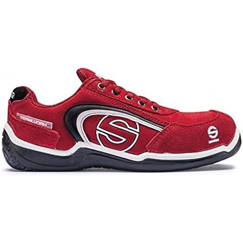 Sparco M255899 - Zapato seguridad sport low rojo talla 42