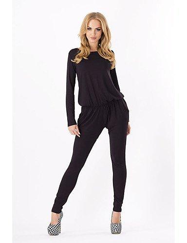 GSP-Combinaisons Aux femmes Manches Longues Décontracté / Grandes Tailles Polyester Moyen Micro-élastique dark blue-2xl