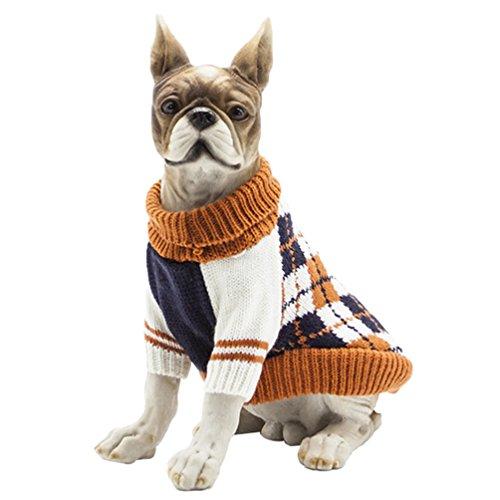 YiJee Kleine Hundchen Kleidung Haustier Halloween Warme Gestrickte Pullover ()