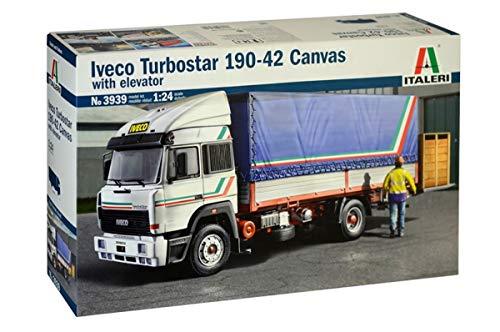 Italeri 3939 modello in plastica da assemblare, camion, iveco turbostar 190-42 canvas with elevator,  model kit, scala 1:24