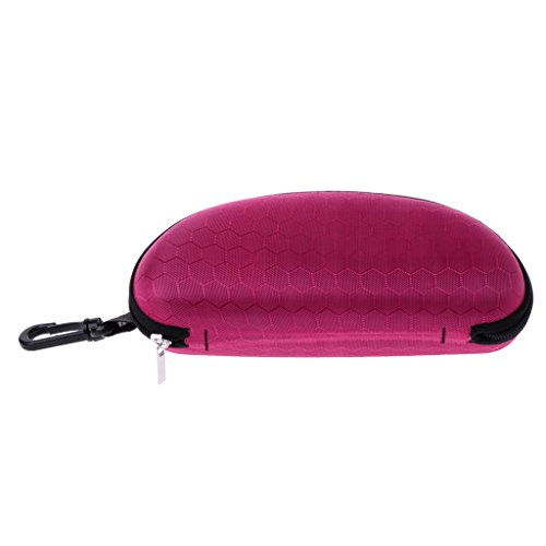 Senoow Portable Zipper Sonnenbrille Fall, 6.69''x3.15''x2.56 '', harte Brillenetui Brillen Schutz Box Tasche Cover (Pink)