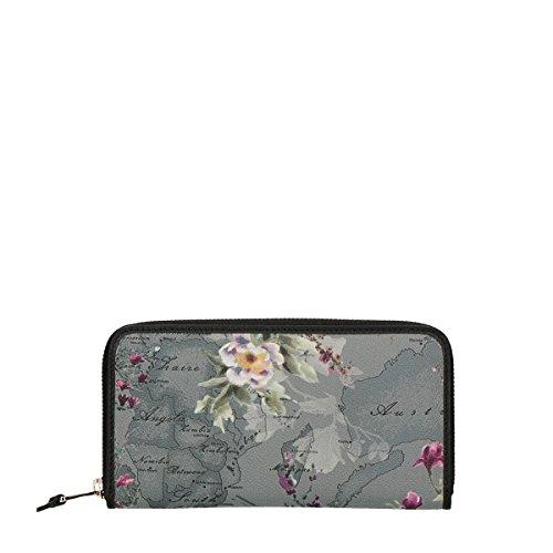 Alviero Martini 1A Classe wallet zip around flower