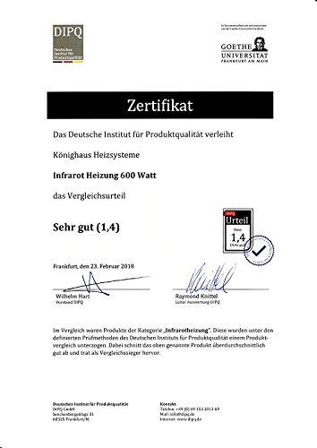 Könighaus 600W/800W/1000Watt Infrarot Bildheizung Ölgemälde Infrarotheizung mit Bild 2*