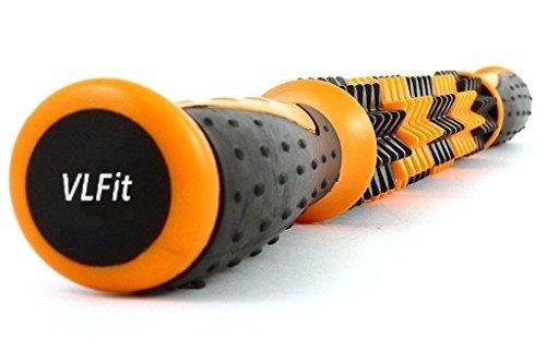 VLFit bastone di massaggio a setole agopressione e riflessologia – 44 cm inch corpo massaggio Sticks tools-muscle Rullo Massaggiatore per alleviare dolori muscolari, crampi e tenuta, a gambe e schiena