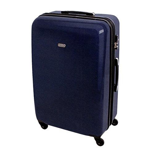 XXL Hartschalen Reise Koffer Reisekoffer Trolley TSA Zahlenschloss 110 Liter Jeans Denim 820