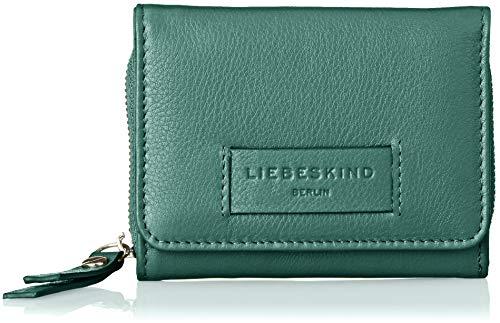 Liebeskind Berlin Damen Essential Pablita Wallet Small Geldbörse, Grün (Dark Green), 3x9x12 cm