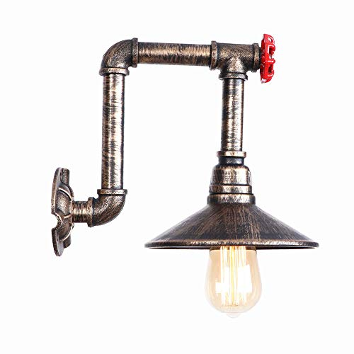 Ganeep Eisen Loft LED Wandleuchte Retro Wasserleitung Wandlamp Leuchten Home Bad Licht Einfache RH Nacht Wohnzimmer Wohnzimmer E27 AC 110 V-240 V