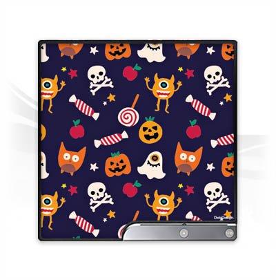 station 3 Slim CECH-2000-3000 Folie Skin Sticker aus Vinyl-Folie Aufkleber Geist Halloween Muster Halloween Huelle ()