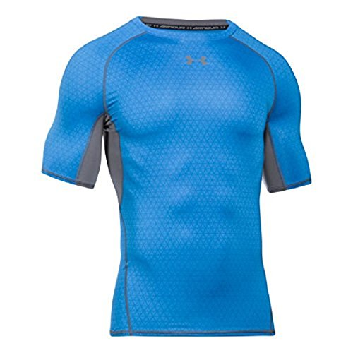 Under Armour Herren Ua Hg Armour Printed Ss Kurzarmshirt Mako Blue