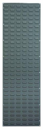 akro-mils 30118Stahl mit Belüftungsschlitzen Panel für die Montage akrobins, 18Breite von 1,5m Höhe, grau -