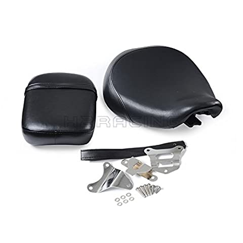 H2Racing Front & Rear Passenger Seat with Bracket for Shadow ACE VT750C VT750CD VT750CD2 1998 1999 2000 2001 VT750CDA VT750CDB VT750CDC VT750CDD 2002