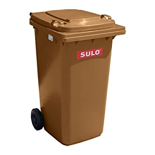 Müllbehälter, Inhalt 80 Liter, braun