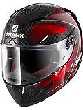Shark race-r Pro Carbon Deager Dur casco moto, nero/rosso, taglia M