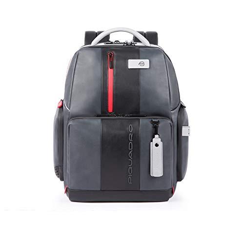 Piquadro Urban Laptoprucksack mit iPad Fach und Diebstahlsicherung 44 cm Grey/Black