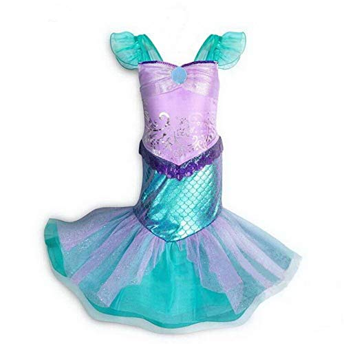 Meerjungfrauenkostüm für kleine Mädchen, Prinzessin, Cosplay, Geburtstagsparty-Outfit (Für Kleinkinder Ariel Kostüm)