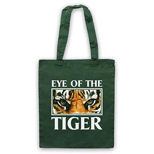 Inspiriert durch Rocky Survivor Eye Of The Tiger Inoffiziell Umhangetaschen Dunkelgrun