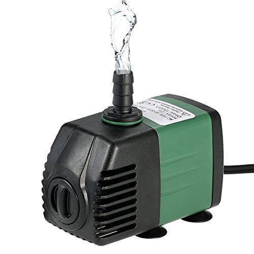 Decdeal 1500L/H 25W Pompa Acqua Idraulica per Acquario Fontane da Tavolo Stagno Giardini con 2 Ugelli AC220-240V