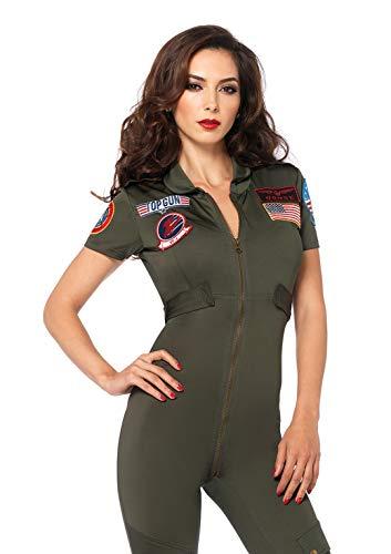Leg Avenue Damen Top Gun Damen Jumpsuit Gr. xl,  - siehe Abbildung (Top Gun Kostüm Frau)