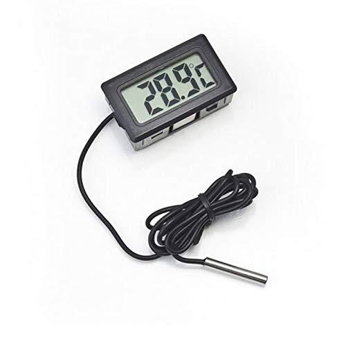 BIYI Diseño práctico Sonda LCD digital Congelador de nevera Termómetro de interior Medidor de sensor...