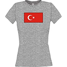 Femme T-Shirt De Dindon Shirt de pays Nom souhaité et Nombre